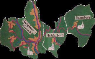 Karte der drei Gemeinden; Quelle: Steffen Banhardt